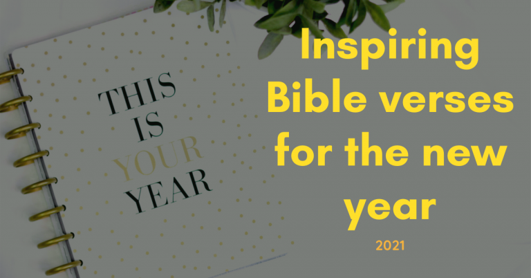 inspiring bible verses for the new year 2021
